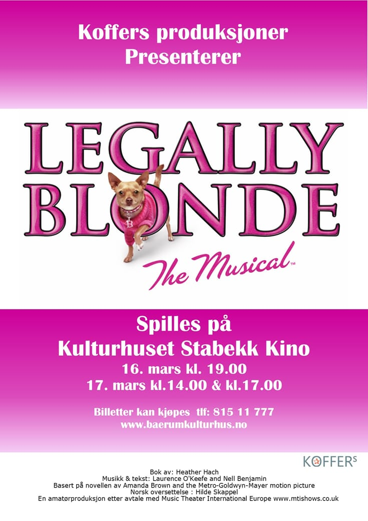 Bilder fra Legally Blonde  2019